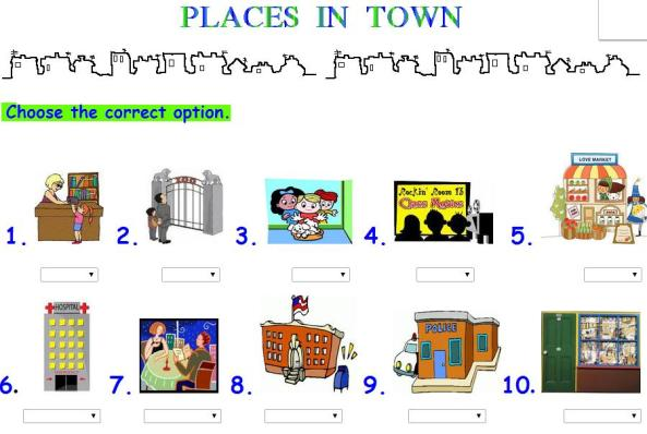 VOCABULARY: PLACES (LUGARES)