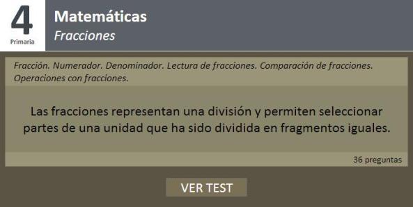 test fracciones